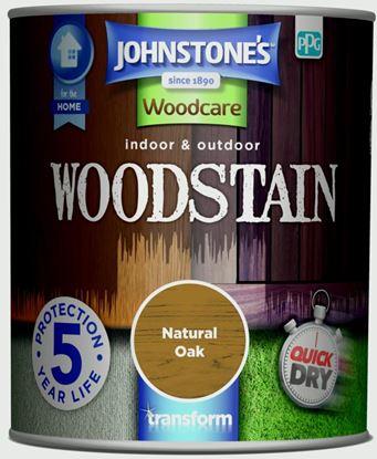 Picture of Johnstones Indoor  Outdoor Woodstain 750ml Natural Oak