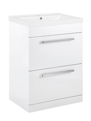 Picture of SP Avalon 2  Drawer Gloss White Basin Unit 600mm