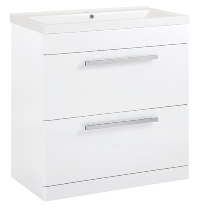 Picture of SP Avalon 2 Drawer Gloss White Basin Unit 800mm