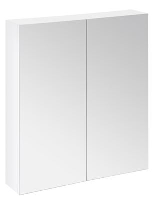 Picture of SP Avalon Gloss White Wall Hung 2 Door  Mirror Cabinet 600mm
