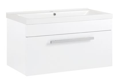 Picture of SP Avalon Gloss White Wall Hung Drawer Basin Unit 800mm