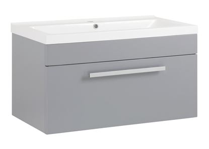 Picture of SP Avalon Grey Wall Hung Drawer Basin Unit 800mm