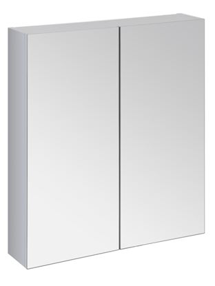 Picture of SP Avalon Wall Hung 2 Door Grey Mirror Cabinet 600mm