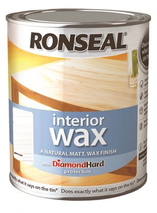 Picture of Ronseal Interior Wax Matt 750ml White Ash