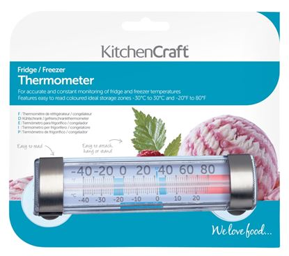 Picture of KitchenCraft Fridge Freezer Thermometer With Suction Cup