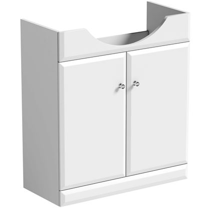 Picture of SP Delamere 710mm White Vanity Unit W 710mm H 800mm D 330mm