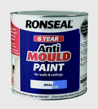Picture of Ronseal 6 Year Anti Mould Paint 2.5L White Silk