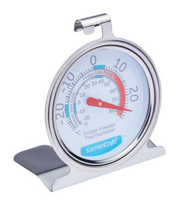 Picture of KitchenCraft Stainless Steel Fridge Thermometer 7cm