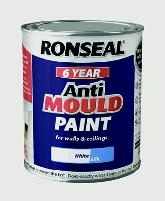 Picture of Ronseal 6 Year Anti Mould Paint 750ml White Silk
