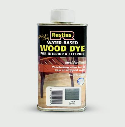 Picture of Rustins Quick Dry Wood Dye 250ml Grey