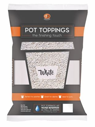 Picture of Deco-Pak Pot Toppings 20mm White
