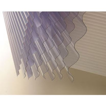 Picture of Vistalux Lightweight Clear Corrugated PVC 3 x 30 x 10ft 3050mm